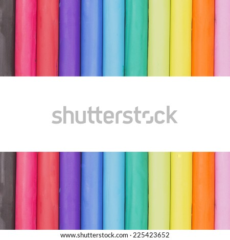 Multicolored paper clips isolated on white background with copy space for your sample text - stock photo