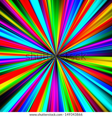 Multicolored pinpoint explosion abstract illustration. - stock photo