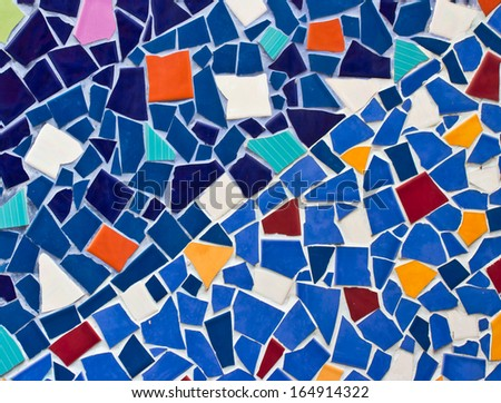 Multicolored small tiles abstract pattern background - stock photo