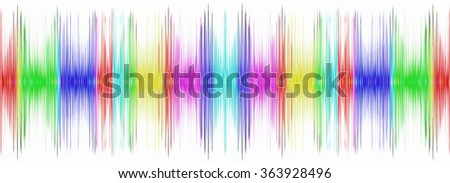 Multicolored sound equalizer on white display.Digitally generated image. - stock photo