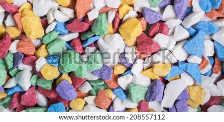 Multicolored stones - stock photo