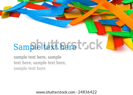 Multicolored strip background