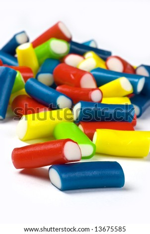 multicolored sweets background; vibrant colors