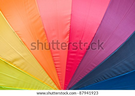 Multicolored umbrella - stock photo