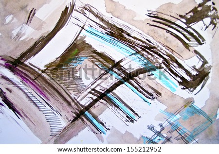 Multicolored watercolor background - stock photo
