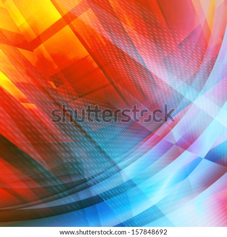 Multicolors Futuristic Background - stock photo