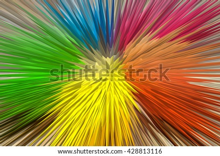 Multicolour extruded abstract background