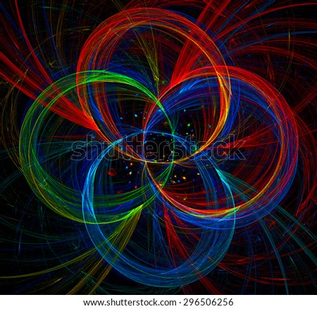 Multicoloured Rings abstract illustration - stock photo