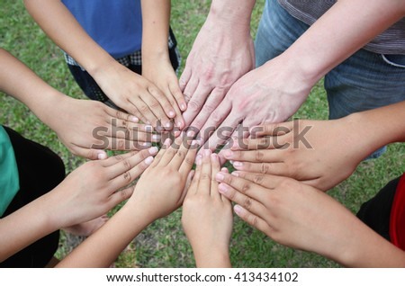 Multicultural hands