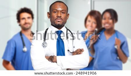 Multiethinc medical team - stock photo