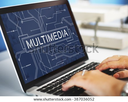 Multimedia Online Technology Future Concept - stock photo