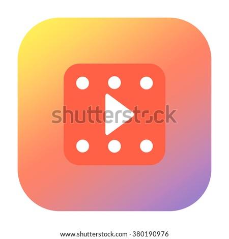 Multimedia play icon - stock photo