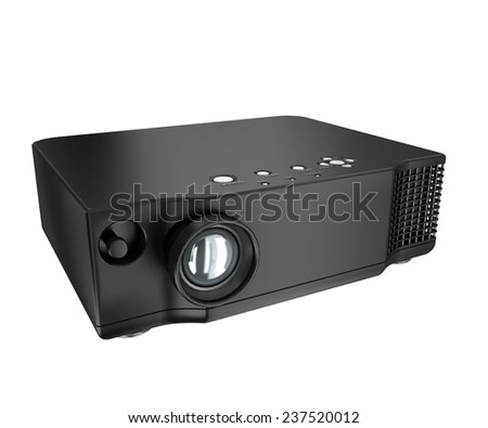multimedia projector on white background