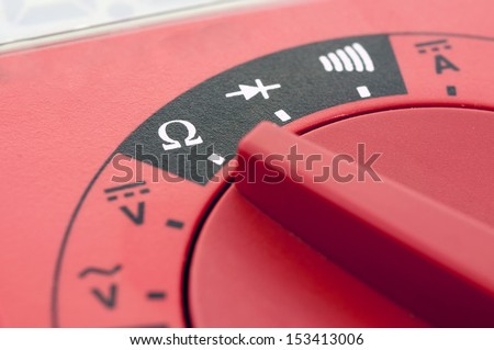 Multimeter close up