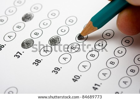 Multiple Choice Test - stock photo