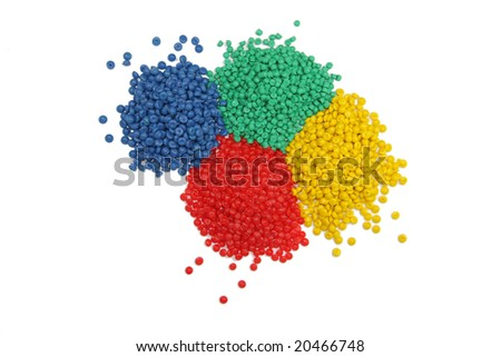 multiple colors of granulate