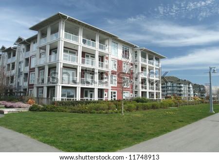 Multiple Condominium Buildings in Contemporary Style - stock photo