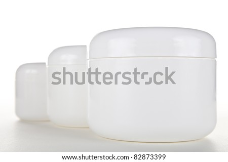 Multiple Cream Jars - stock photo