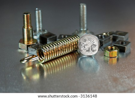 multiple screws - stock photo