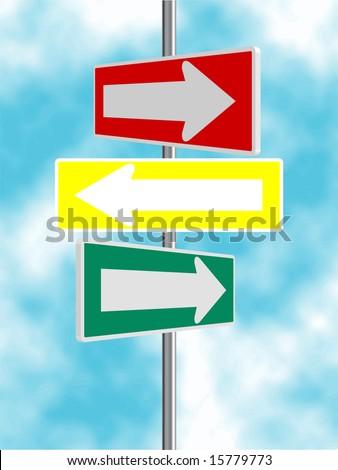 Multiple Sign Post - stock photo