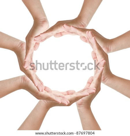 Multiracial woman on white background