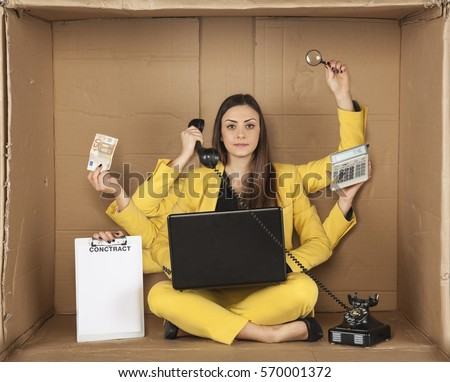 Multitasking Woman Stock Images, Royalty-Free Images ...