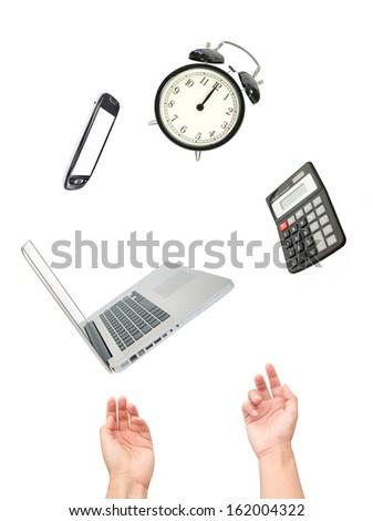 Multitasking office work  - stock photo