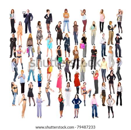 Multitude Big Crowd Diversity - stock photo