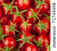 multitude of cherry tomatoes, close-up view - stock photo
