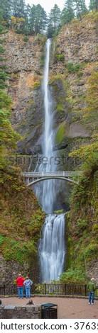 Multnomah Falls, Columbia River Gorge, Oregon, USA - stock photo