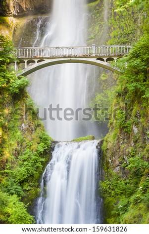 Multnomah Falls, Oregon, USA - stock photo