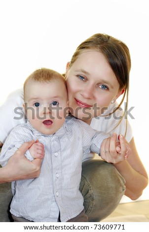 Mum with a baby - stock photo