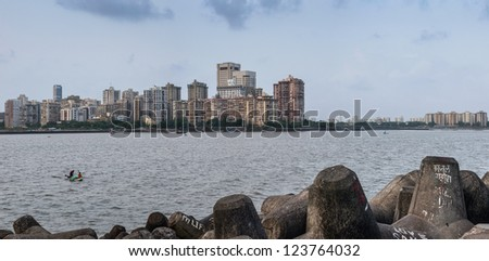 Mumbai coast, Mumbai, India - stock photo