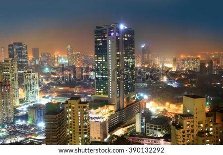 Mumbai, INDIA - December 6 : Mumbai is the financial,commercial and entertainment capital of India, on December 6,2015 Mumbai, India - stock photo