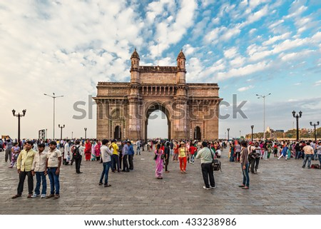 MUMBAI, INDIA - FEBRUARY 21: Gateway of India on Febuary 21, 2014 in Mumbai, India.