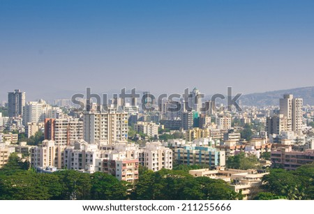 mumbai skyline - stock photo