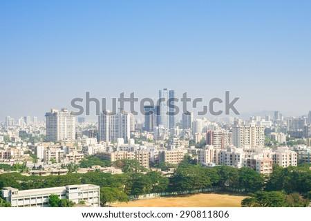 mumbai skyline - stock photo