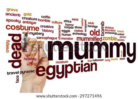 Mummy word cloud - stock photo