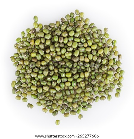 Mung beans isolated on white background - stock photo