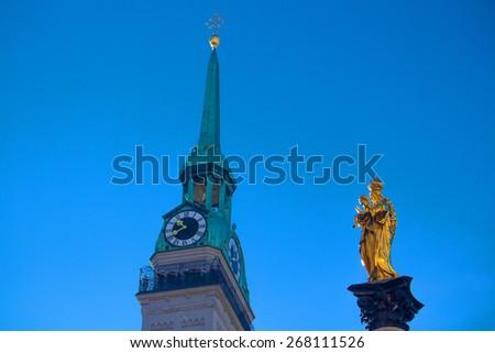 Munich city - stock photo