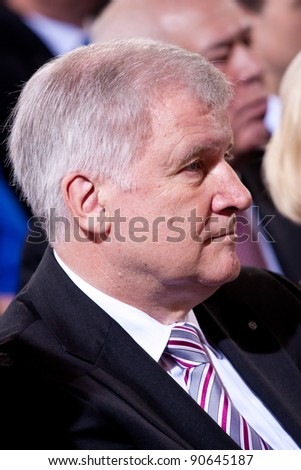 MUNICH - DECEMBER 10: Prime Minister of State of Bavaria Horst Seehofer attends the Award of the Franz-Josef Strauss Prize on December 10, 2011 in Munich, Germany.