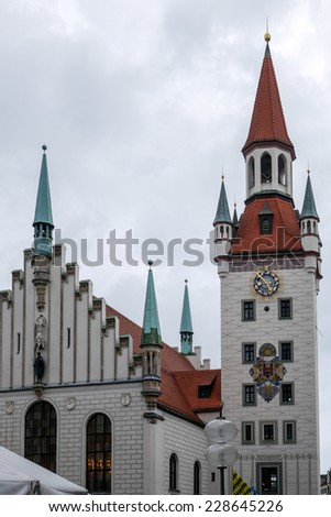 MUNICH, GERMANY/EUROPE - SEPTEMBER 25 : Toy Museum in the Old Town Hall Tower in Munich Germany on September 25, 2014