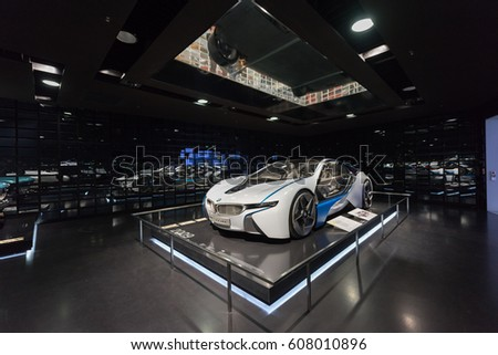 MUNICH / GERMANY - Feb 05, 2017; BMW on display in BMW Museum on  Feb 05, 2017 in Munich