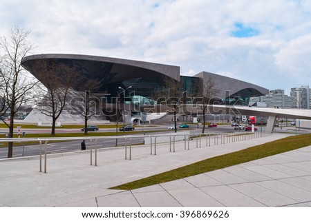 Munich, Germany - MARCH 27 2016: BMW Welt(World of BMW) in Munich, Germany.