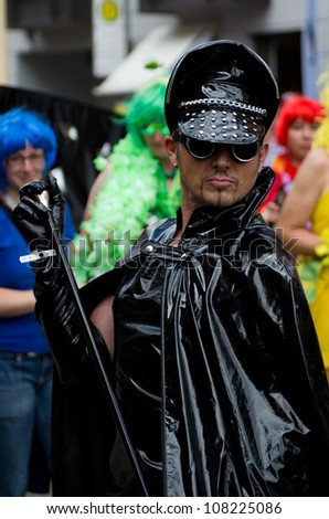 MUNICH - JULY 14: Participants at the at the Christopher Street Day (Gay Pride) in Munich on July 14, 2012. - stock photo