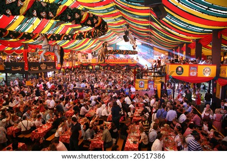 MUNICH - OCTOBER 16: Oktoberfest October 16 2007 in Munich, Germany - stock photo