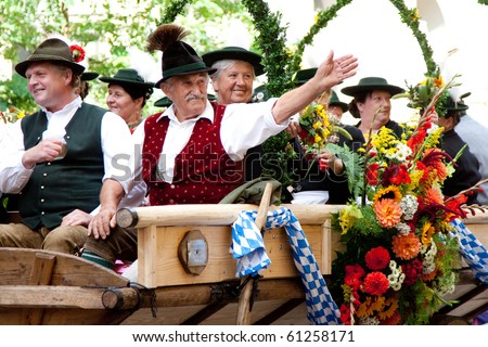 MUNICH - SEPTEMBER 19: Opening of Oktoberfest September 19, 2010 in Munich, Germany