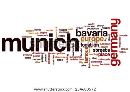 Munich word cloud concept - stock photo