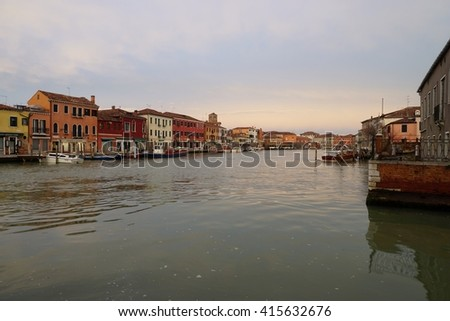 MURANO, ITALY -10 MARCH 2016- Located in the Venetian Laguna, the island archipelago of Murano near Venice is famous for its glass making.