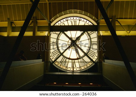 Musée d'Orsay Clock - stock photo
